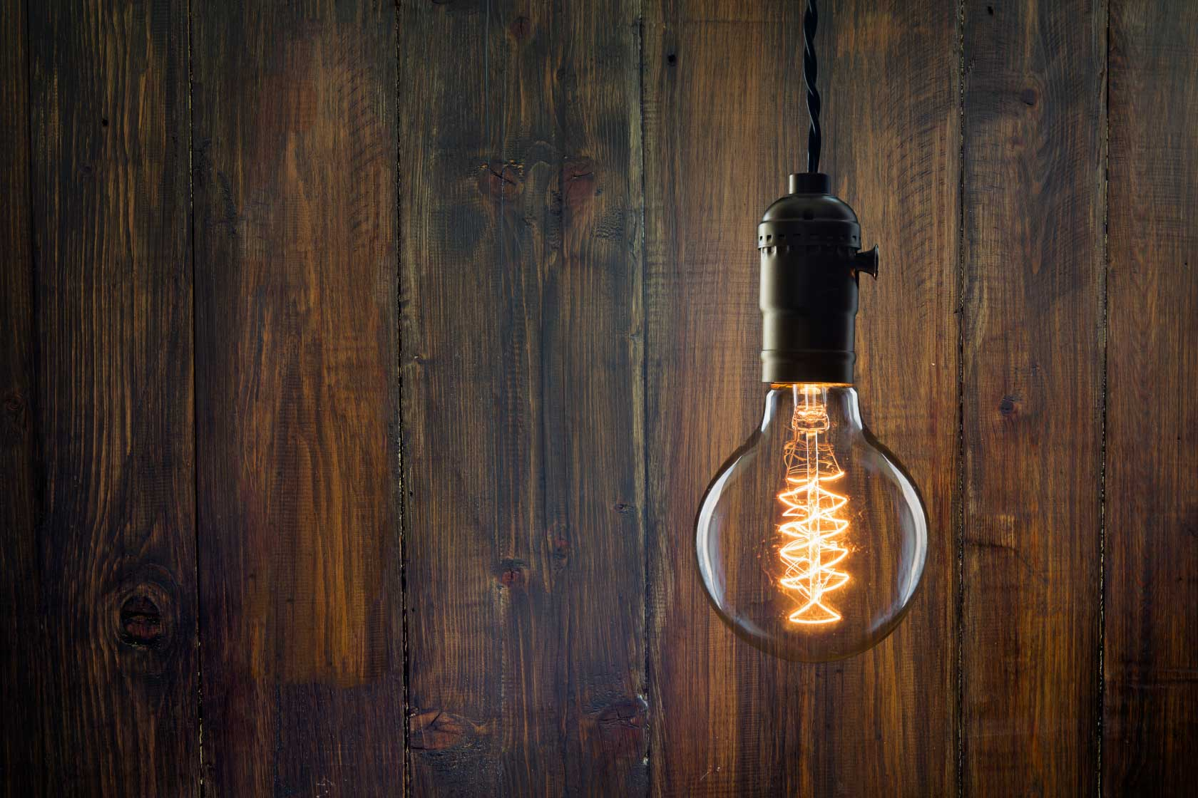 Edison lightbulb, we turn clients' learning and development challenges into learning and development solutions