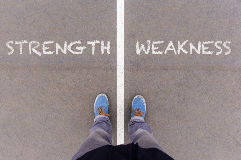 Strength and Weakness Graphic