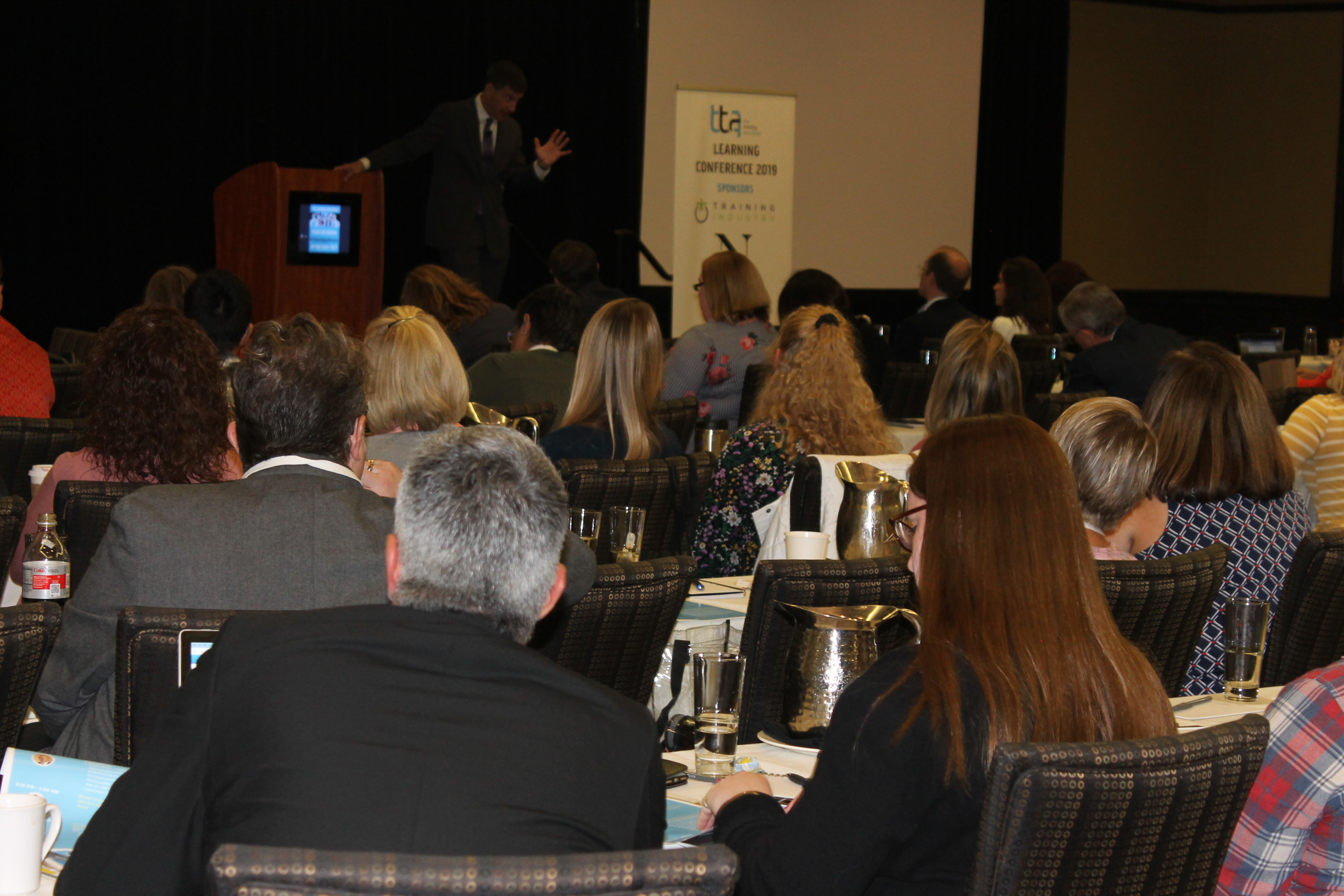 Crowd at TTA's learning conference