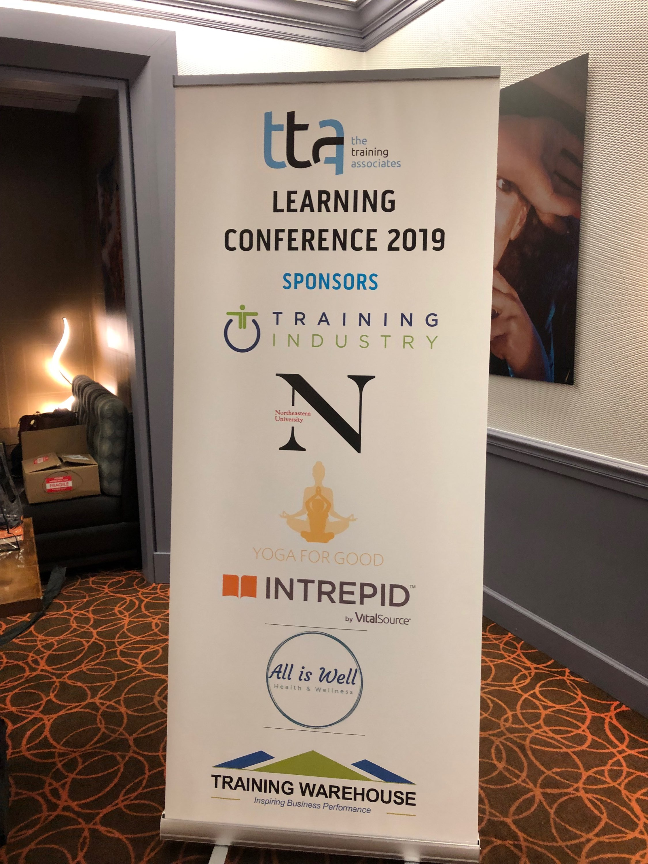 Signage for TTA's Learning conference