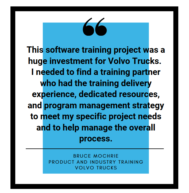Auto Industry Training quote from volvo
